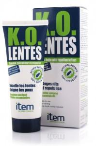 Το K.O. Lentes διευκολύνει την απομάκρυνση των νεκρών κονίδων από τα μαλλιά ενώ ταυτόχρονα έχει και άριστη απωθητική δράση αποτρέποντας την επαναμόλυνση του τριχωτού της κεφαλής. Η χρήση του προτείνεται συμπληρωματικά στη βασική αντιφθειρική θεραπεία.